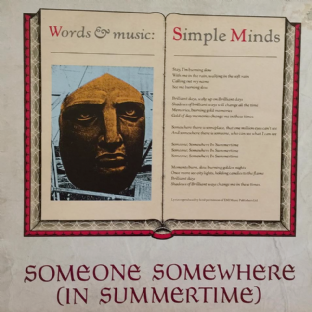 "Simple Minds - Someone Somewhere (In Summertime) (12"") (EX-/VG-)"